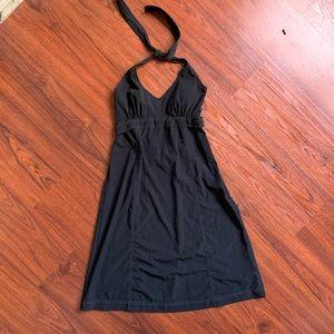 Athleta Black Halter Tie Dress sz 8
